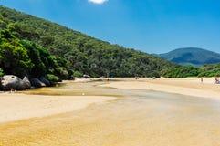 Παλιρροιακός ποταμός στη Βόρεια πλευρά του εθνικού πάρκου ακρωτηρίων Wilsons σε Gippsland, Αυστραλία στοκ φωτογραφία με δικαίωμα ελεύθερης χρήσης