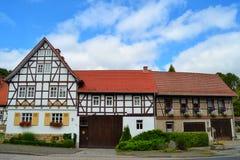 Πανέμορφα μισό-εφοδιασμένα με ξύλα σπίτια στη Γερμανία Στοκ εικόνα με δικαίωμα ελεύθερης χρήσης