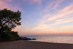 Πανέμορφα χρώματα θάλασσας και ουρανού στο σούρουπο, Sithonia, Χαλκιδική, Ελλάδα Στοκ φωτογραφίες με δικαίωμα ελεύθερης χρήσης