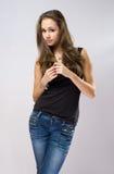 πανέμορφες πρότυπες νεολαίες brunette Στοκ φωτογραφία με δικαίωμα ελεύθερης χρήσης
