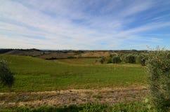 Πανέμορφη άποψη της Tuscan επαρχίας Στοκ Φωτογραφίες