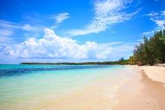 Πανέμορφη ακτή σε Punta Cana Στοκ Φωτογραφία