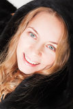 πανέμορφη γυναίκα γουνών στοκ φωτογραφίες
