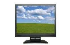 πανέμορφη οθόνη τοπίων LCD Στοκ εικόνα με δικαίωμα ελεύθερης χρήσης
