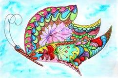 Πανέμορφη φανταστική κοσμική πεταλούδα Απεικόνιση αποθεμάτων