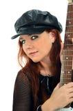 πανέμορφος κιθαρίστας 2 Στοκ εικόνα με δικαίωμα ελεύθερης χρήσης