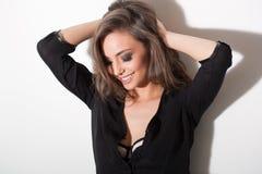 πανέμορφος προκλητικός brunette Στοκ εικόνες με δικαίωμα ελεύθερης χρήσης
