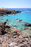 Πανέμορφος τυρκουάζ δύσκολος κόλπος σε Playa de San Juan Tenerife Στοκ εικόνες με δικαίωμα ελεύθερης χρήσης