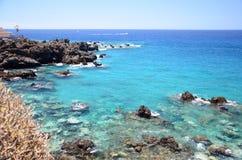 Πανέμορφος τυρκουάζ δύσκολος κόλπος σε Playa de San Juan Tenerife Στοκ φωτογραφία με δικαίωμα ελεύθερης χρήσης