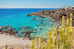 Πανέμορφος τυρκουάζ δύσκολος κόλπος σε Playa de San Juan Tenerife Στοκ Φωτογραφίες
