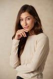 Πανέμορφο brunette στοκ εικόνα με δικαίωμα ελεύθερης χρήσης