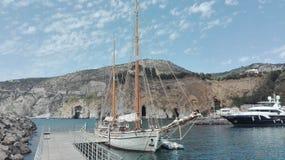 πανί βαρκών Στοκ εικόνα με δικαίωμα ελεύθερης χρήσης
