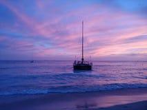 Πανί ηλιοβασιλέματος στοκ φωτογραφίες