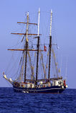 πανί schooner τρία Στοκ εικόνα με δικαίωμα ελεύθερης χρήσης