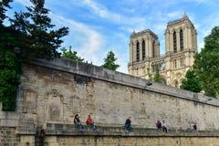 Παναγία των Παρισίων, Γαλλία Στοκ Εικόνα