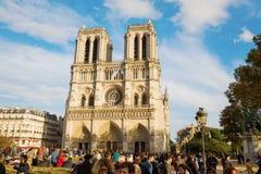 Παναγία των Παρισίων στο Παρίσι, Γαλλία Στοκ εικόνες με δικαίωμα ελεύθερης χρήσης