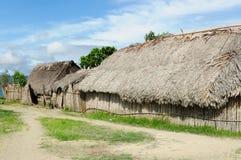 Παναμάς, παραδοσιακό σπίτι των κατοίκων του αρχιπελάγους SAN Blas στοκ εικόνα με δικαίωμα ελεύθερης χρήσης