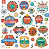 Πανεπιστήμιο, ακαδημία και εμβλήματα ή λογότυπα κολλεγίου Στοκ Εικόνες
