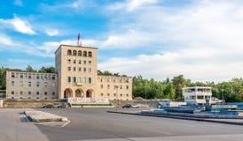 Πανεπιστήμιο οικοδόμησης των Τιράνων Στοκ φωτογραφία με δικαίωμα ελεύθερης χρήσης