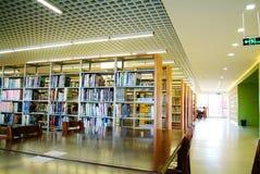 Πανεπιστήμιο--Περιοχή εκμάθησης βιβλιοθήκης κολλεγίου στοκ φωτογραφίες