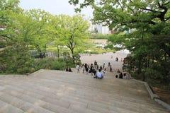 Πανεπιστήμιο της γυναίκας της Σεούλ Ewha στη Νότια Κορέα Στοκ Εικόνες