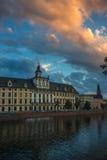 Πανεπιστήμιο Wroclaw ενάντια στον όμορφο ουρανό Στοκ Φωτογραφίες