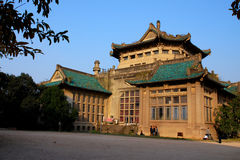 Πανεπιστημιακή βιβλιοθήκη Wuhan Στοκ Φωτογραφία