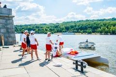 Πανεπιστημιακή ηλιακή ομάδα βαρκών της Samara Στοκ Εικόνες