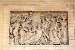 Πανεπιστημιακή Νομική Σχολή του Παρισιού κοντά στο Pantheon Παρίσι Στοκ εικόνα με δικαίωμα ελεύθερης χρήσης