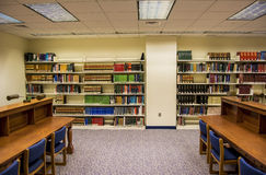 Πανεπιστημιακή περιοχή μελέτης βιβλιοθήκης Στοκ Εικόνες