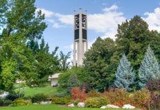 Πανεπιστημιακός εκατονταετής πύργος κωδωνοστοιχιών του Brigham Young Στοκ Εικόνες