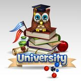 Πανεπιστημιακό εικονίδιο 2 ελεύθερη απεικόνιση δικαιώματος