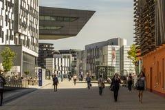 Πανεπιστημιούπολη του πανεπιστημίου της Βιέννης των οικονομικών και της επιχείρησης στοκ φωτογραφίες