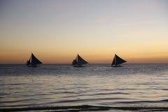 Πανιά ηλιοβασιλέματος στοκ εικόνες