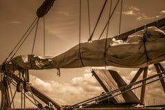Πανιά σκαφών Στοκ φωτογραφία με δικαίωμα ελεύθερης χρήσης