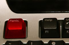 πανικός κουμπιών Στοκ εικόνες με δικαίωμα ελεύθερης χρήσης
