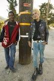 Πανκ έφηβοι, στοκ φωτογραφία