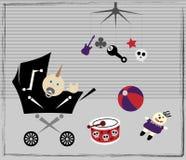 πανκ βράχος στοιχείων μωρώ& Στοκ εικόνα με δικαίωμα ελεύθερης χρήσης