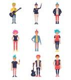 Πανκ καθορισμένα διάνυσμα cartoon Στοκ εικόνα με δικαίωμα ελεύθερης χρήσης