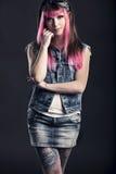 Πανκ κορίτσι Στοκ εικόνα με δικαίωμα ελεύθερης χρήσης