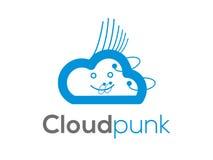 Πανκ λογότυπο σύννεφων (σημάδι, απεικόνιση, εικονίδιο) Στοκ φωτογραφία με δικαίωμα ελεύθερης χρήσης