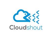 Πανκ λογότυπο σύννεφων (σημάδι, απεικόνιση, εικονίδιο) Στοκ Φωτογραφία