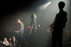 Πανκ ορχήστρα ροκ Iceage στη συναυλία στον ήχο 2015 Primavera σκηνών Apolo Στοκ φωτογραφίες με δικαίωμα ελεύθερης χρήσης