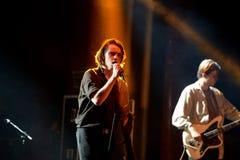 Πανκ ορχήστρα ροκ Iceage στη συναυλία στο υγιές 2015 σκηνών Apolo φεστιβάλ Primavera Στοκ φωτογραφίες με δικαίωμα ελεύθερης χρήσης