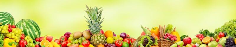 Πανοραμικά ευρέα φρούτα και λαχανικά συλλογής για το skinali Στοκ εικόνα με δικαίωμα ελεύθερης χρήσης