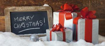 Πανοραμικά Χριστούγεννα στοκ εικόνα