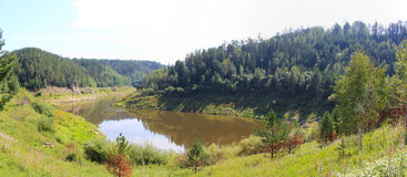 Πανοραμικές απόψεις της αρχής Sârghe ποταμών Στοκ φωτογραφίες με δικαίωμα ελεύθερης χρήσης