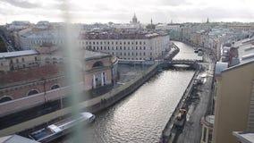 Πανοραμική άποψη Άγιος-Peterspurg, Ρωσία απόθεμα βίντεο