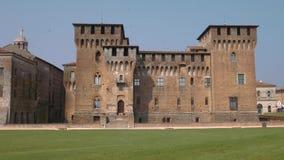 Πανοραμική άποψη Αγίου George Castle σε Mantua απόθεμα βίντεο