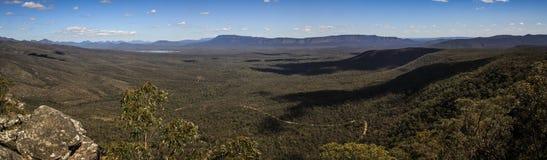 Πανοραμική άποψη από την επιφυλακή του Reid και τα μπαλκόνια, το Grampians, Βικτώρια, Αυστραλία, στοκ φωτογραφίες